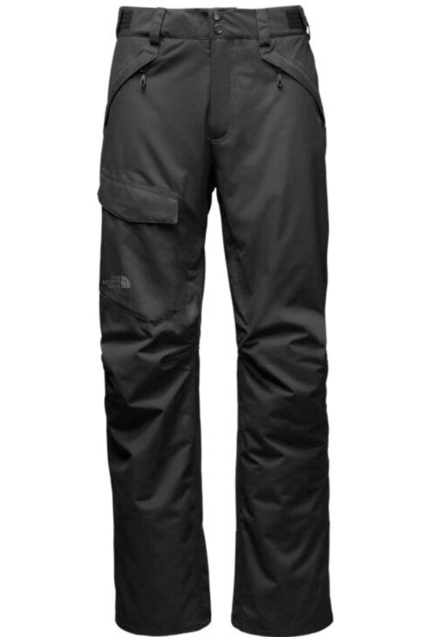The North Face Men's Freedom Insulated Ski Pants | 2TJI with updated articulated fit in Black, from the back
