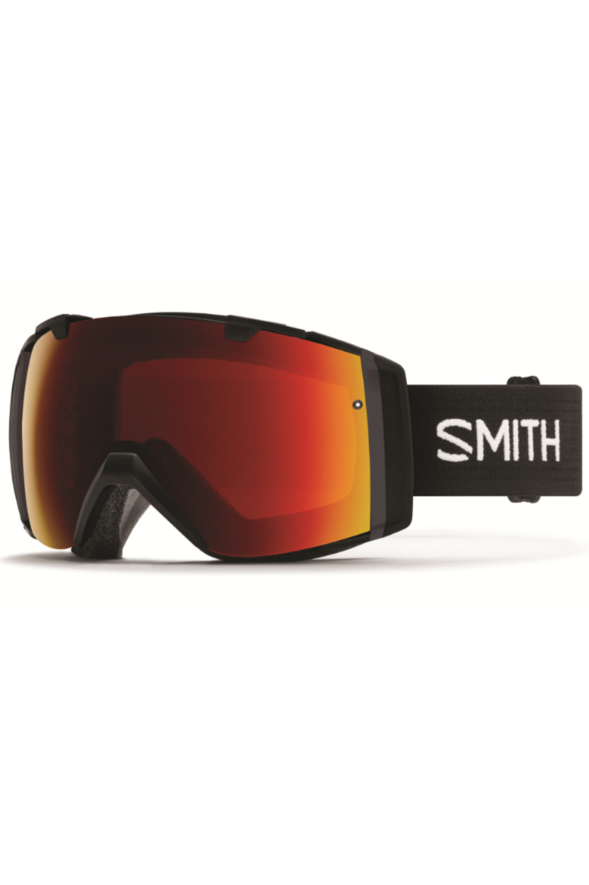 Smith I/O Goggles + Spare Lens   Prior Season   Black Frame   Chromapop Sun Red Mirror   Chromapop Storm Rose Flash