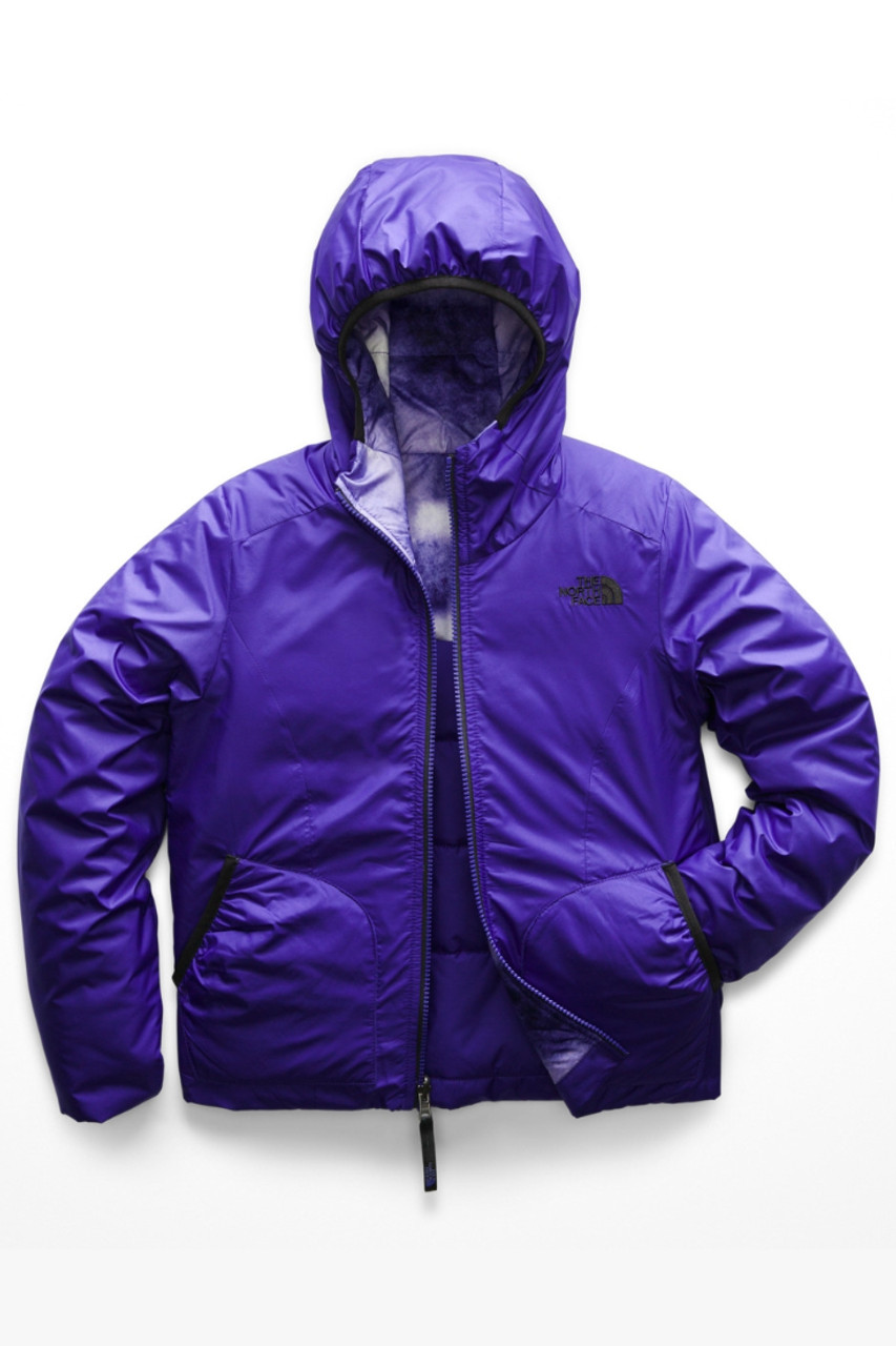 The North Face Reversible Perrito Jacket | Girl's | NF0A3CVQ | 3XZ | Deep Blue | Front