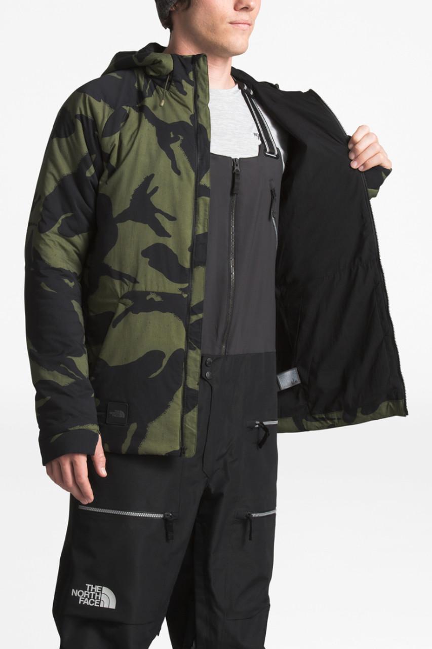 The North Face Lodgefather Ventrix Ski Jacket | Men's | NF0A3LU3 | 7AB | Four Leaf Clover Tropitoile Print | Inside Pocket