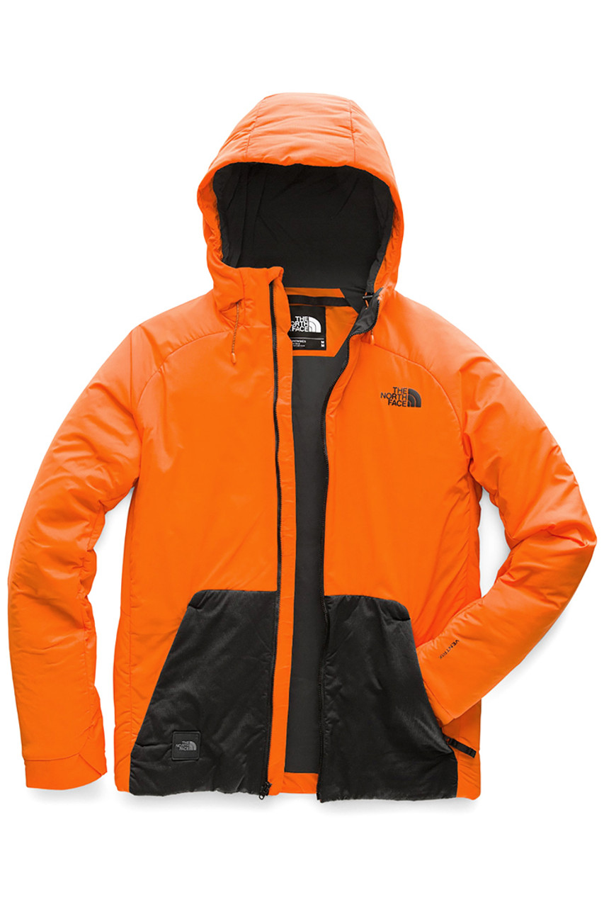 The North Face Lodgefather Ventrix Ski Jacket | Men's | NF0A3LU3 | 3LZ | Persian Orange | TNF Black | Front