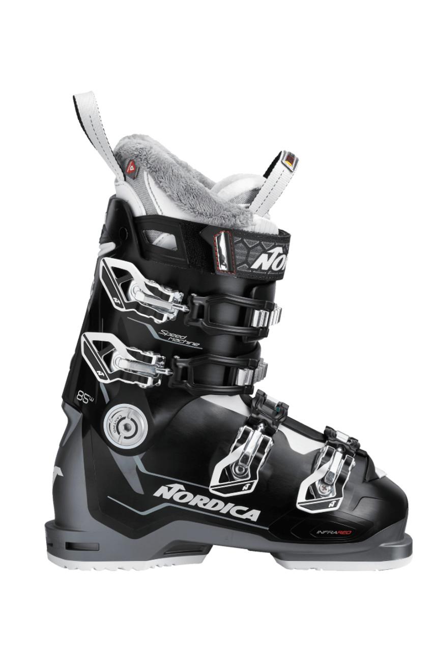 Nordica Speedmachine 85   Women's Ski Boots   050H4201541   Black/Anthracite/White   Side