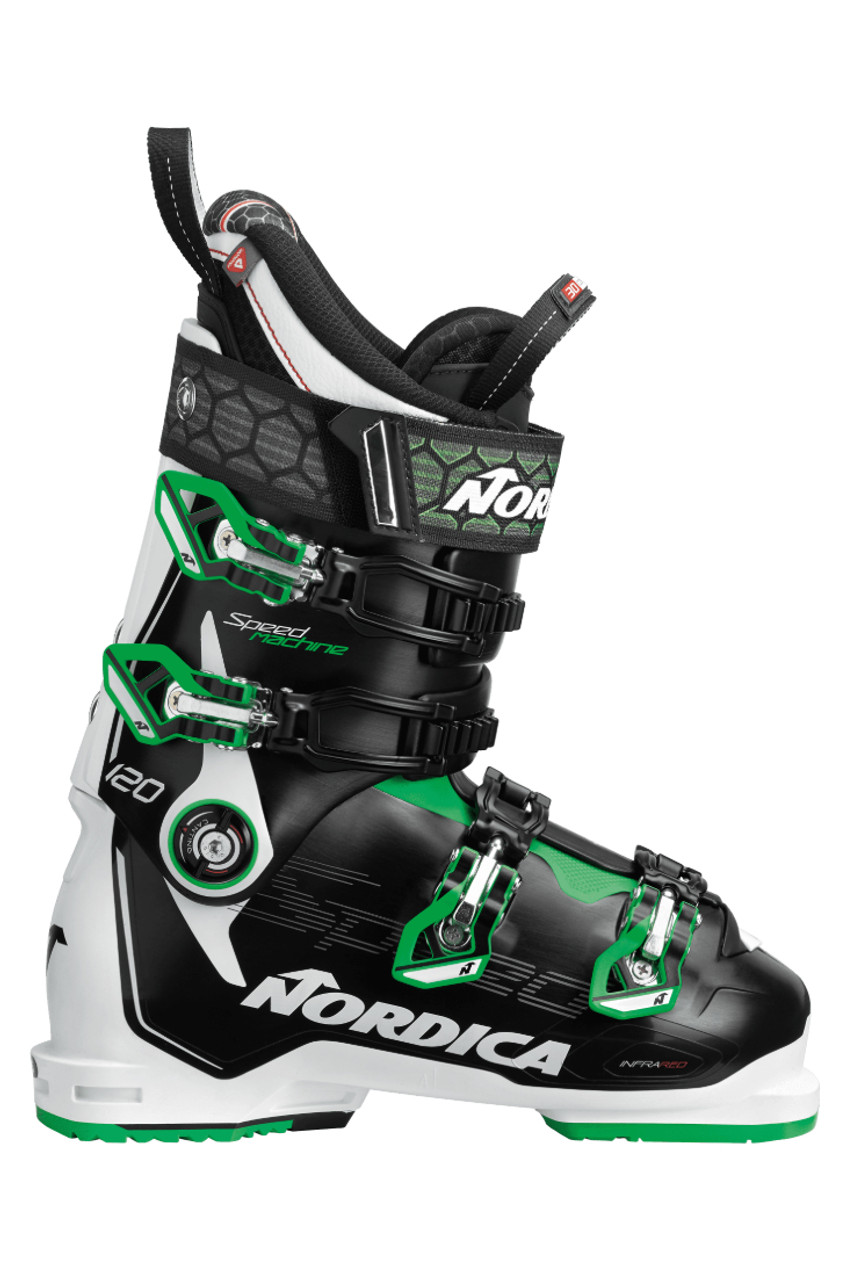 Nordica Speedmachine 120 Ski Boots | Men's | 050H2201P34 | Black/White/Green | Outside