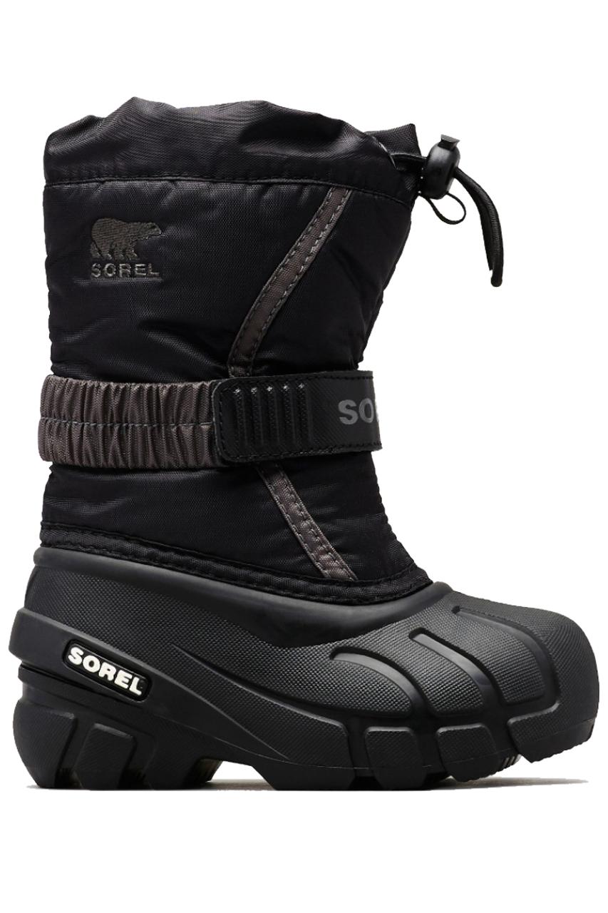 Sorel Flurry Boot   Big Kids   1638081   Black   Side