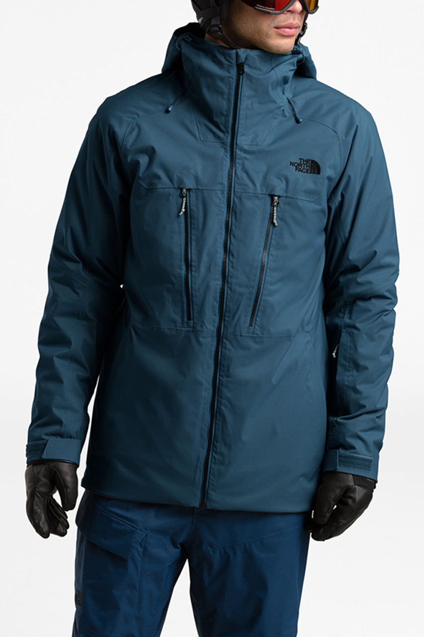 The North Face Thermoball Eco Snow Triclimate Jacket | Men's | Teal | Front