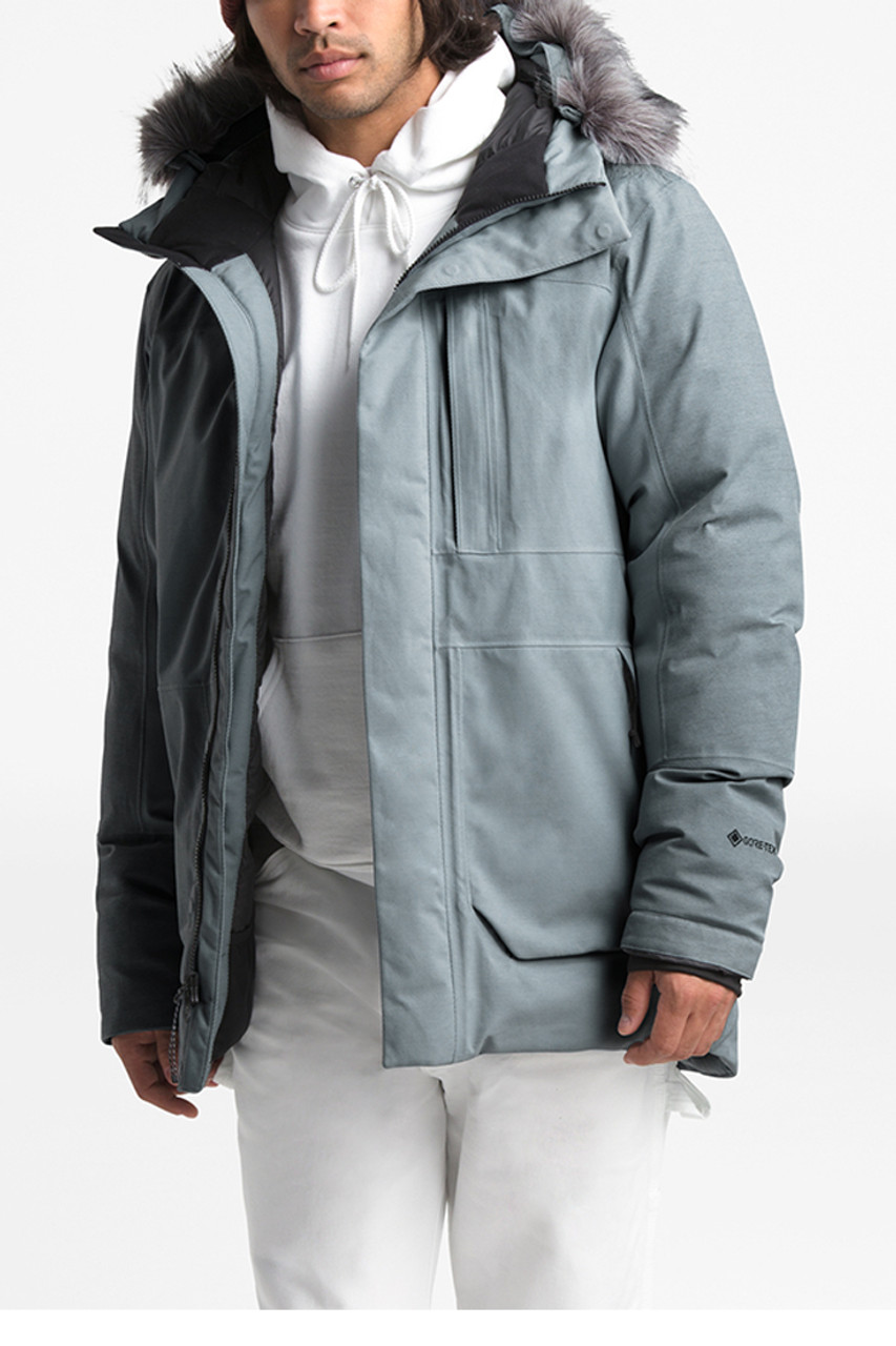The North Face Defdown GTX II Jacket | Men's | Mid Grey | Front
