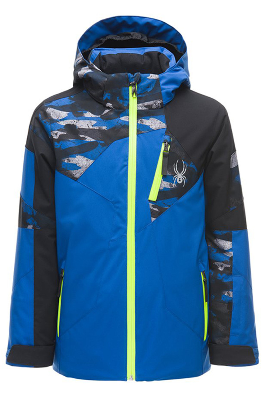Spyder Leader Ski Jacket | Boy's | 183010 | Turkish Blue | Front