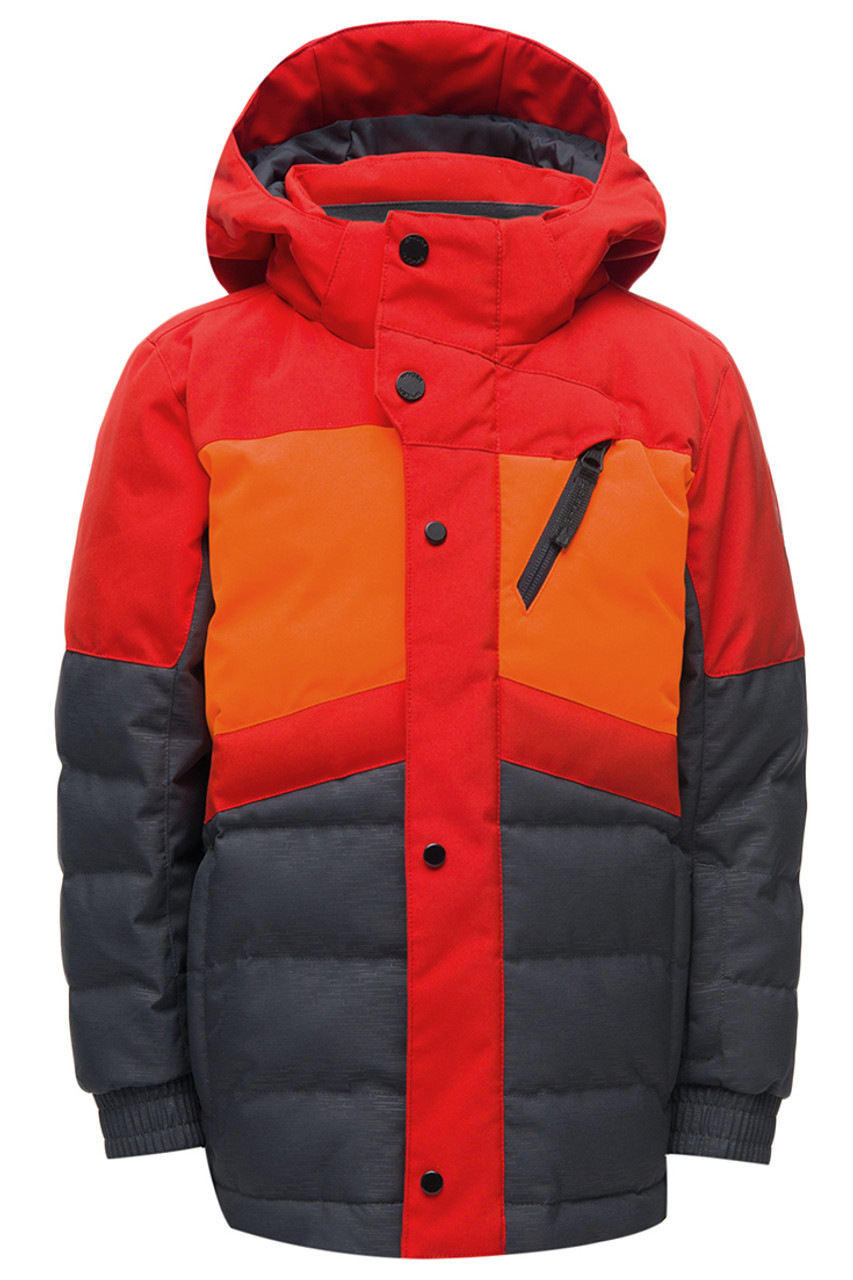 Spyder Trick Synthetic Down Jacket | Boy's | Linear Emboss | Front
