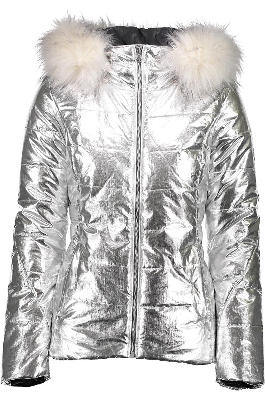 Obermeyer Bombshell Jacket | Women's | Silver Sheen | Front