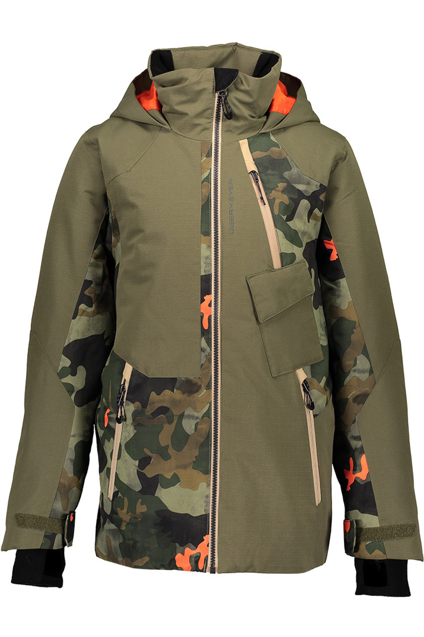 Obermeyer Axel Jacket | Teen Boy's | Hot Shot Camo | Front