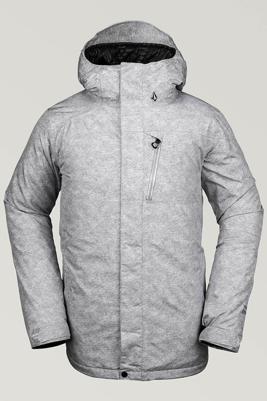 Volcom L Insulated GTX Jacket | Men's | Grey Heather | Front