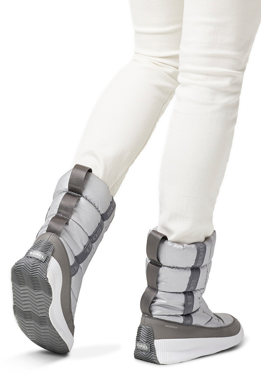 Sorel Out N' About Puffy Mid Boot | Women's | Pure Silver Back