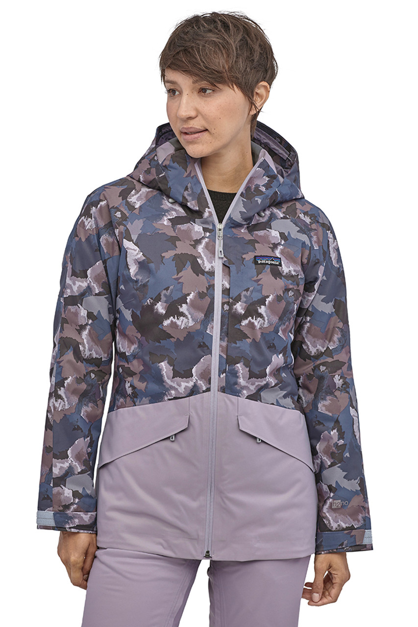 Patagonia Insulated Snowbelle Jacket | Women's | Maple Camo/Smokey Violet | Front