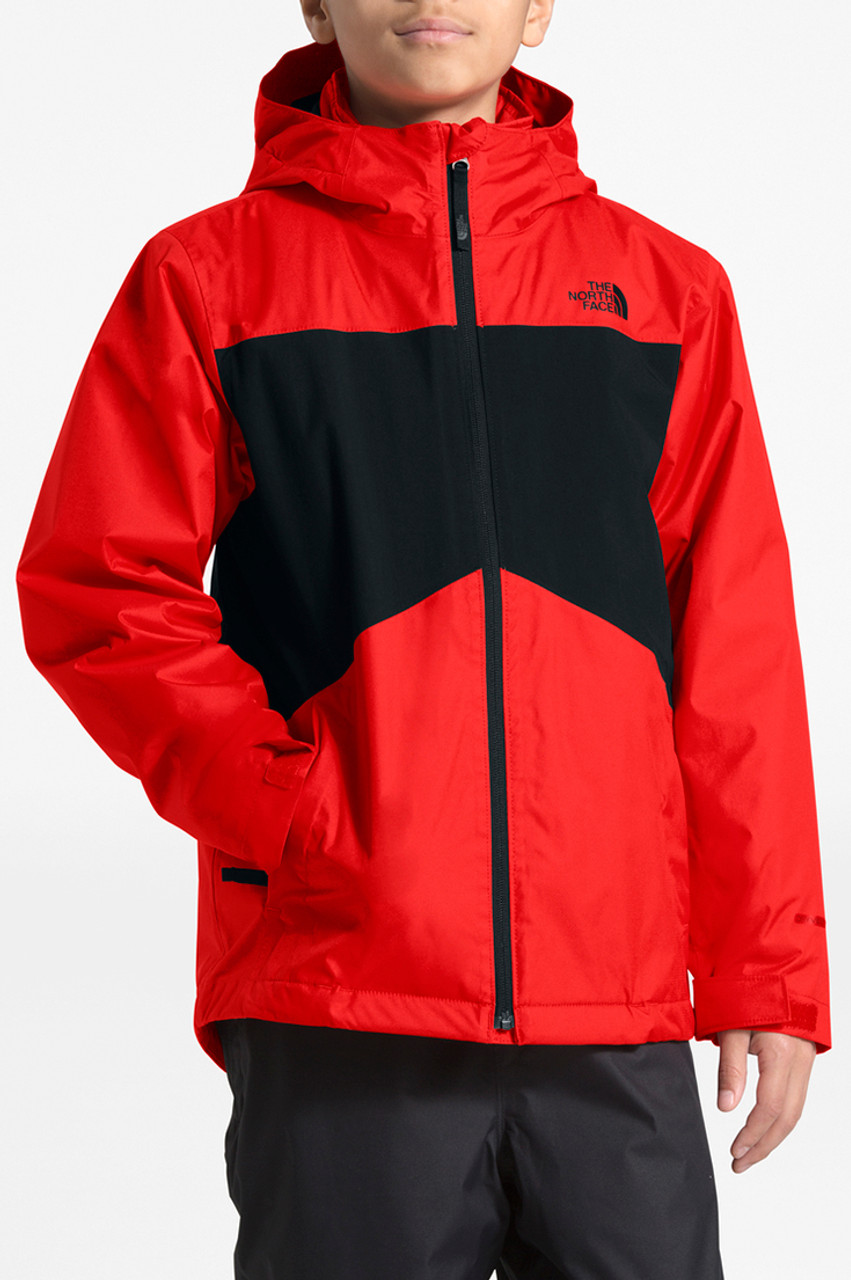 The North Face Clement Triclimate Jacket | Boy's | Fiery Red | Front