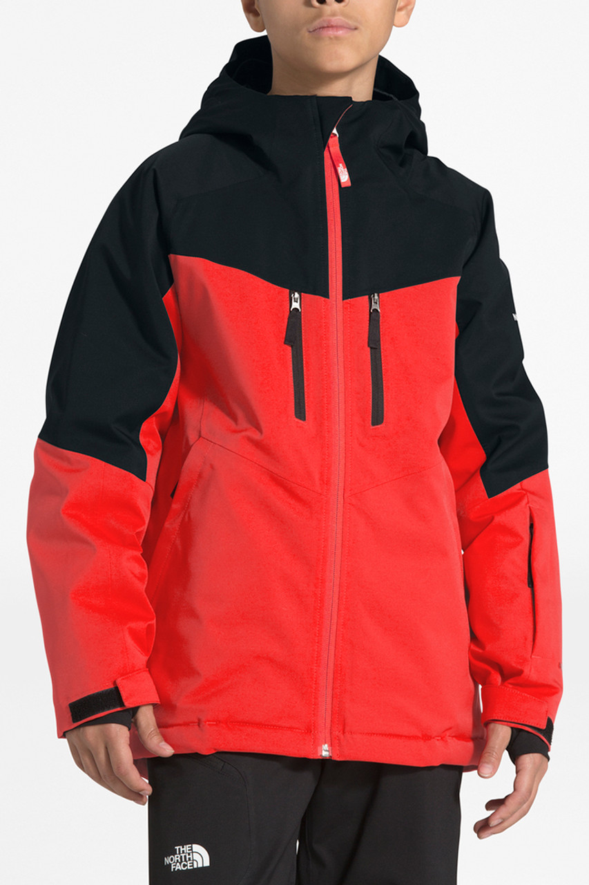 The North Face Chakal Insulated Jacket | Boy's | Fiery Red | Front