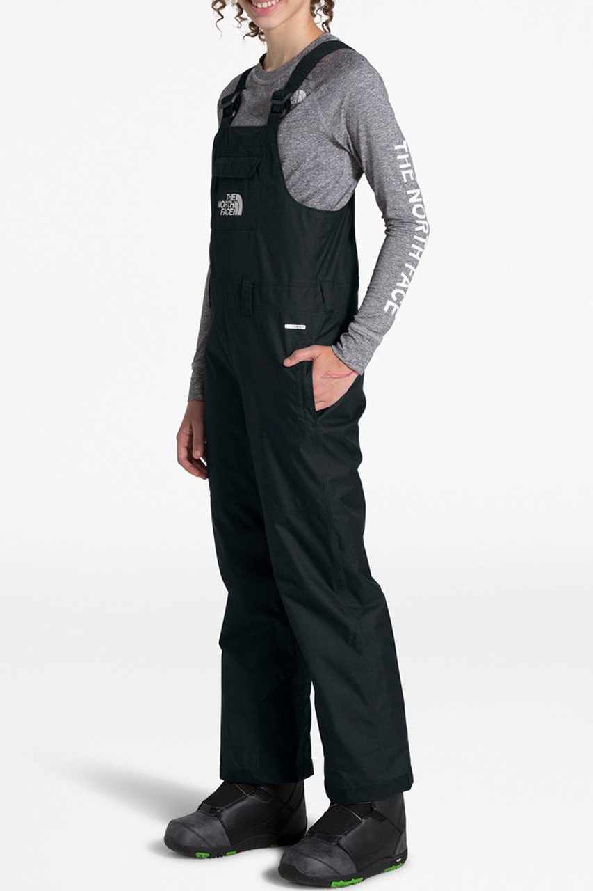 The North Face Unisex Freedom Insulated Bib | Youth | TNF Black | Front