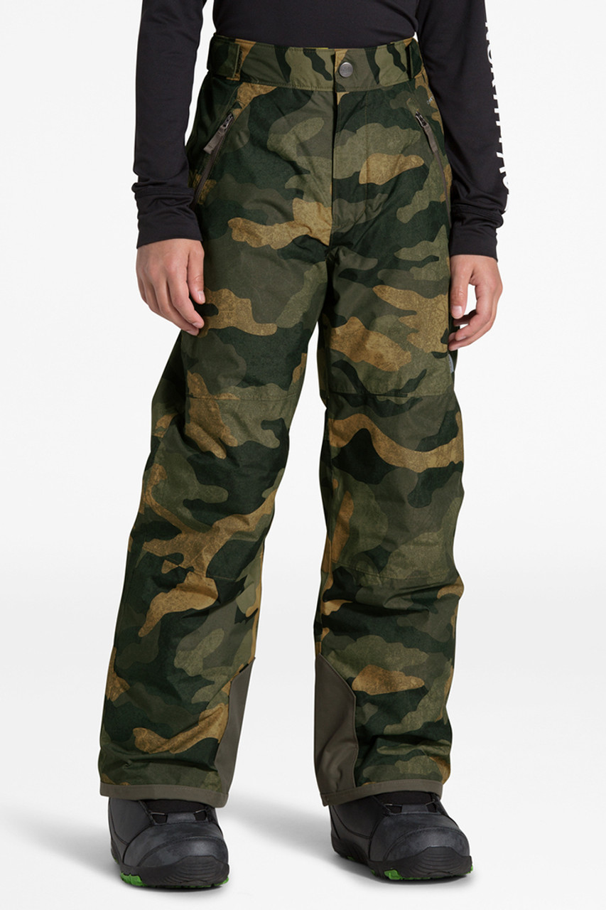 The North Face Freedom Insulated Pant | Boy's | British Khaki/Camo | Front
