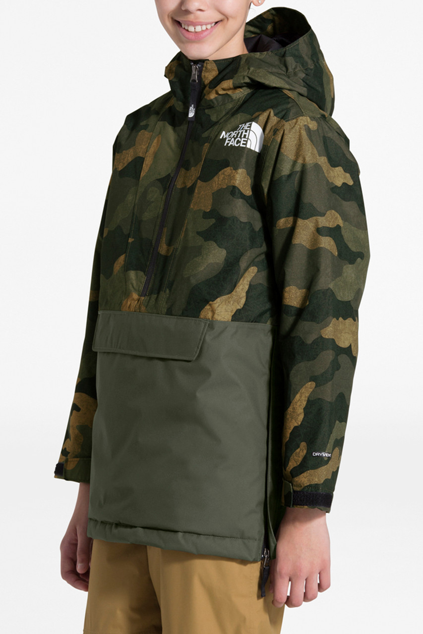 The North Face Freedom Insulated Anorak | Boy's | Waxed Camo | Front
