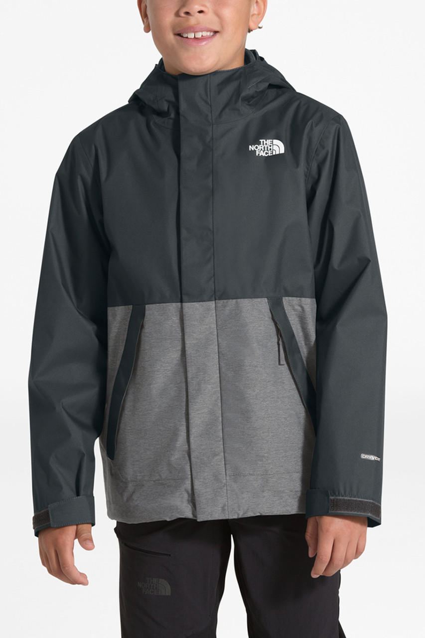 The North Face Vortex Triclimate Jacket | Boy's | Asphalt Grey | Front
