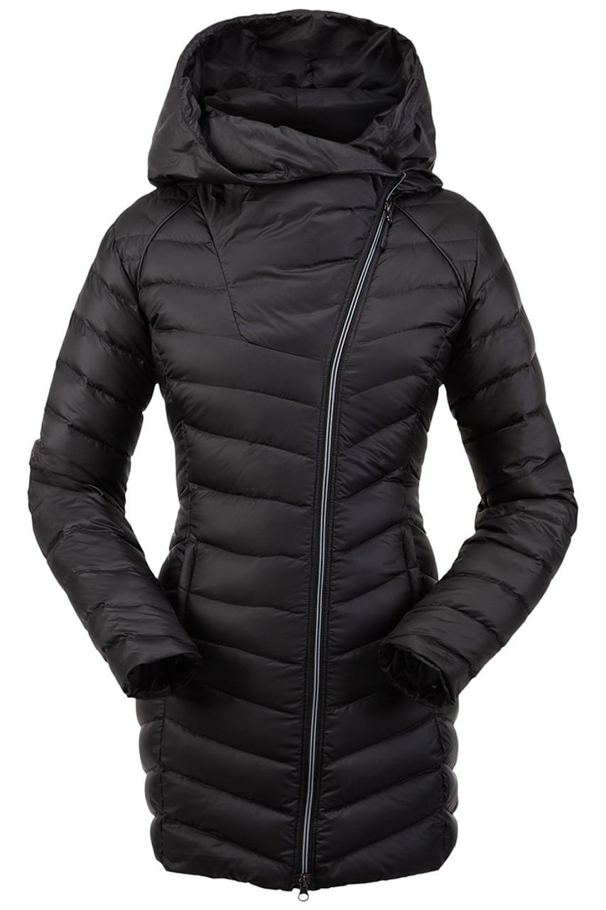 Spyder Timeless Long Down Jacket | Women's | Black | Front