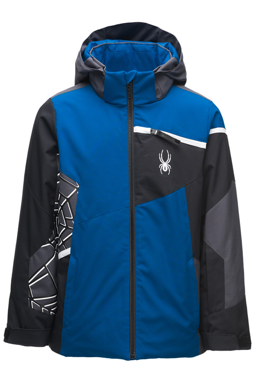 Spyder Challenger Jacket | Boy's | Old Glory | Front