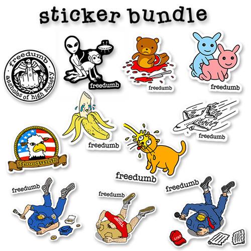 Freedumb Sticker 11-sticker Bundle