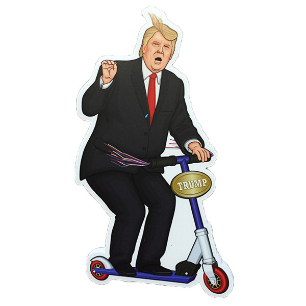 Trump rides a Scooter