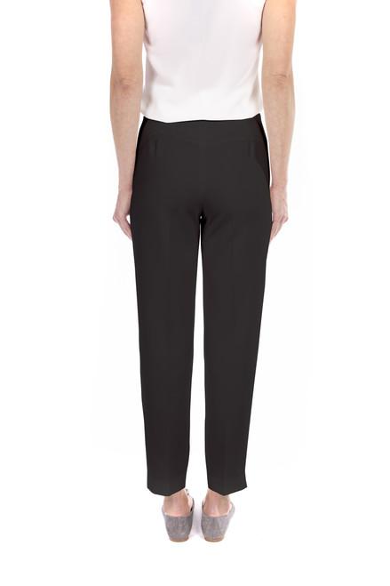 Black Slim Crepe Crop Pants Front