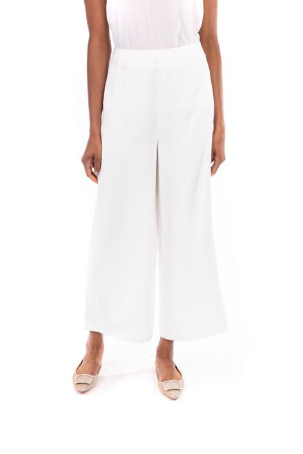 Ivory Wide Leg Crop Pant Front