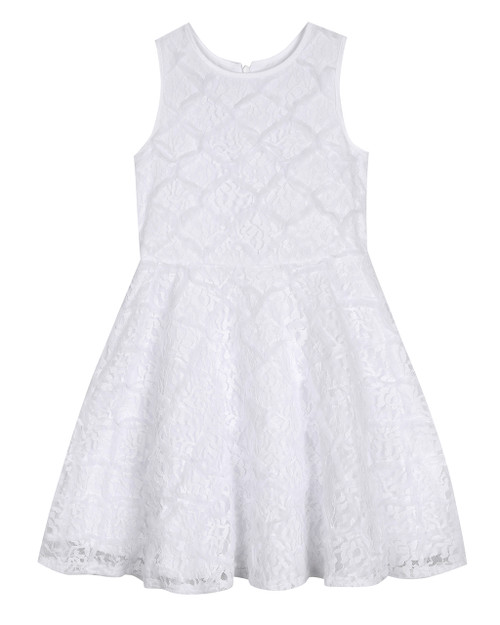 White Allover Lace Skater (Sizes 7-16) Front