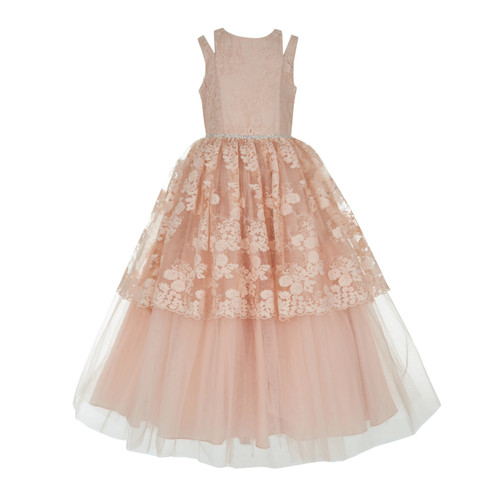 Blush Lace Over Tulle