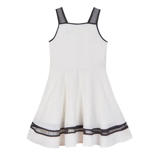 White Sleeveless Skater Girls Dress