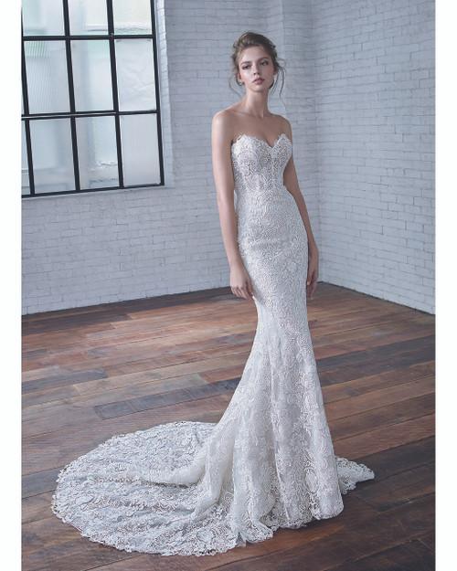 Ivory/Sand Celine Bridal Gown Front