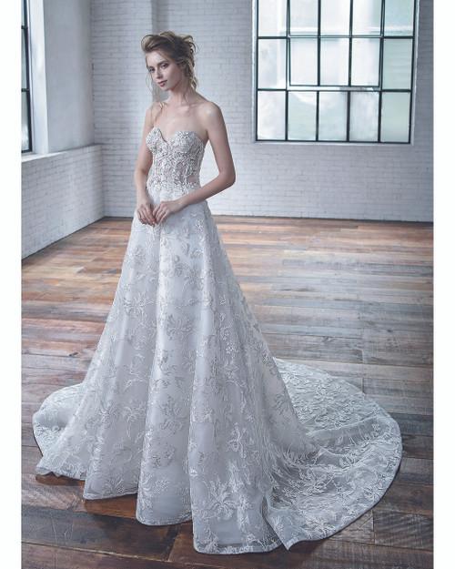 Ivory/Beige Charlene Bridal Gown Front