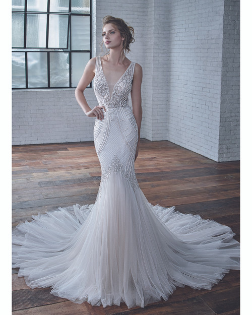 Ivory/Sand Charlize Bridal Gown Front