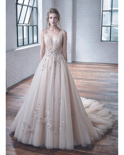 Champagne/Gold Cheryl Bridal Gown Front