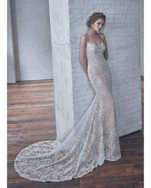 Ivory/Pewter Christy Bridal Gown Front