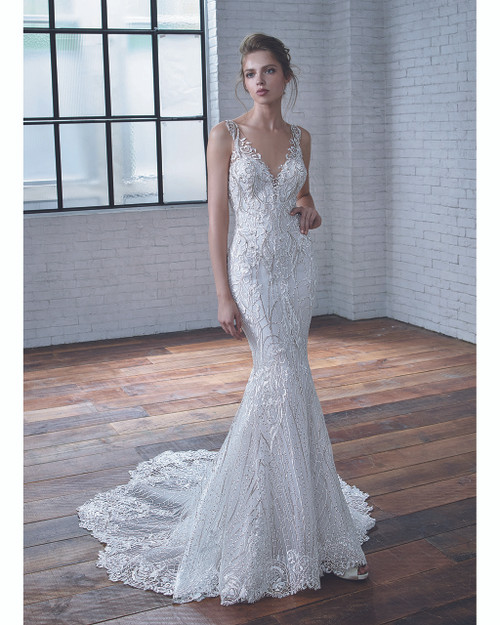 Ivory/Sand Claire Bridal Gown Front