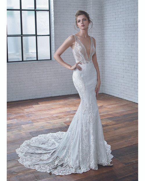 Ivory/Nude Clarice Bridal Gown Front
