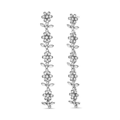 Silver Garden Party Linear Earring