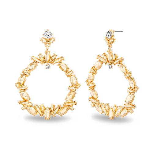 Gold Marquise Cutout Post Earring