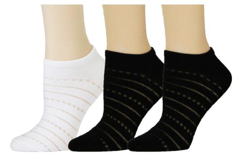 Black/ White Filament Stripe Low Cut