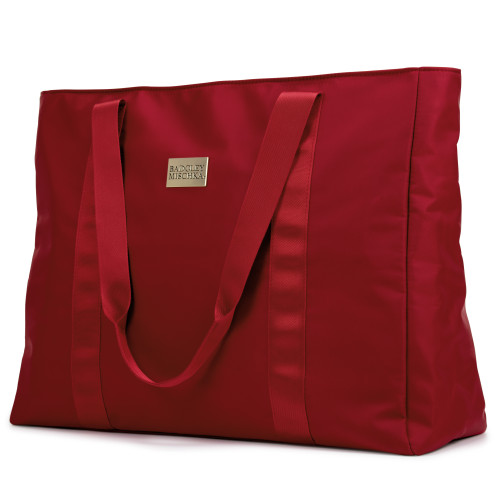 Burgundy Nylon Weekender Tote Bag