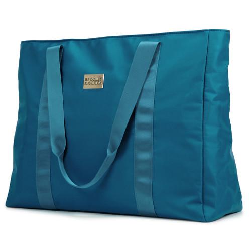 Aqua Nylon Weekender Tote Bag Image