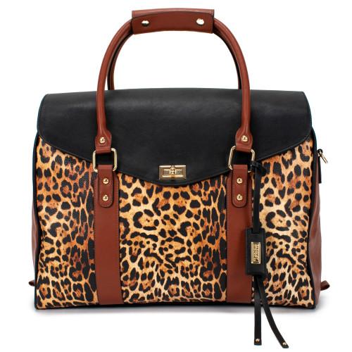 Leopard Leopard Weekender Tote Bag Front