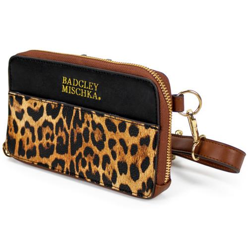 Leopard Vegan Leather Pouch Belt Bag Front