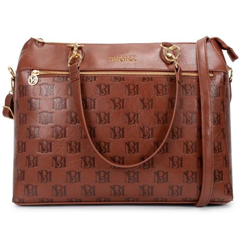 Madalyn Vegan Leather Travel Tote Weekender Bag Front