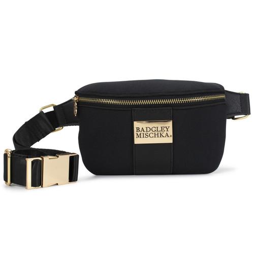 Sage Scuba and Vegan Leather Belt Bag Front