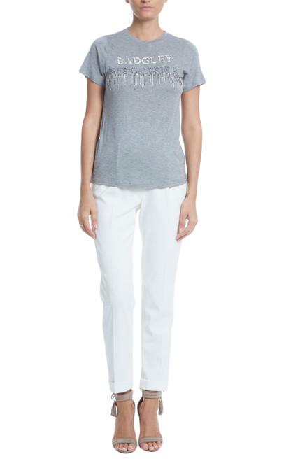 Heather Grey Embellished Short Sleeve T-Shirt Front