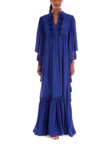 Cobalt Floor Length Caftan Gown Front